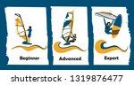 windsurfing skills levels....   Shutterstock .eps vector #1319876477