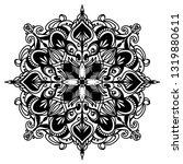 mandala ornamental black... | Shutterstock .eps vector #1319880611