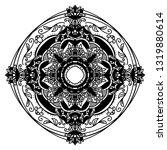 mandala ornamental black... | Shutterstock .eps vector #1319880614