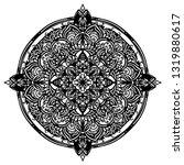 mandala ornamental black... | Shutterstock .eps vector #1319880617