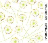 dandelion blowing plant vector... | Shutterstock .eps vector #1319884931