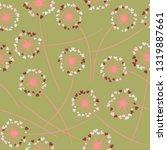 cute dandelion blowing vector... | Shutterstock .eps vector #1319887661