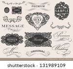 calligraphic design elements... | Shutterstock .eps vector #131989109