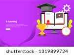 educational e learning concept... | Shutterstock .eps vector #1319899724