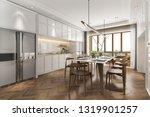 3d rendering scandinavian... | Shutterstock . vector #1319901257