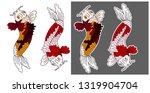 koi carp vector isolate for... | Shutterstock .eps vector #1319904704