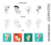 vector design of hospital and... | Shutterstock .eps vector #1319913701