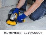 concrete floor surface grinding ... | Shutterstock . vector #1319920004