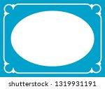 vector blue oval border frame.... | Shutterstock .eps vector #1319931191