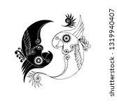 yin yang parrot vector | Shutterstock .eps vector #1319940407