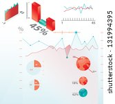 infographics with red and blue ... | Shutterstock .eps vector #131994395