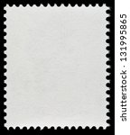 Blank Postage Stamp Isolated O...