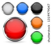 colored buttons with chrome... | Shutterstock . vector #1319979047