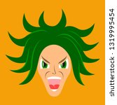 flat icon on theme evil face   Shutterstock .eps vector #1319995454