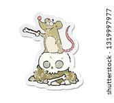 retro distressed sticker of a... | Shutterstock .eps vector #1319997977