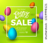 vector template of easter sale... | Shutterstock .eps vector #1319998121