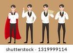 businessman in success emotions ...   Shutterstock .eps vector #1319999114