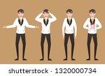 businessman in failure emotions ...   Shutterstock .eps vector #1320000734