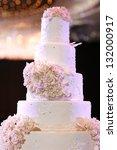 wedding cake with luxury... | Shutterstock . vector #132000917