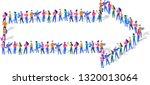 arrow isometric vector concept  ...   Shutterstock .eps vector #1320013064