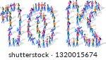 10k followers isometric vector...   Shutterstock .eps vector #1320015674