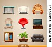 furniture icons set 3 | Shutterstock .eps vector #132001664