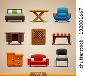 furniture icons set 4 | Shutterstock .eps vector #132001667