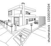 house 3d illustration | Shutterstock .eps vector #1320019334