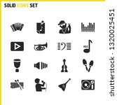 music icons set with accordion  ...