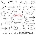 hand drawn arrows set | Shutterstock .eps vector #1320027461