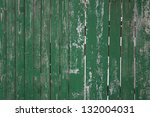Old Green Wooden Fence...
