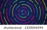 colorful neon dashed lines ... | Shutterstock .eps vector #1320044594