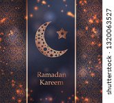 ramadan kareem greeting card...   Shutterstock .eps vector #1320063527