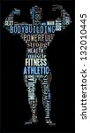 body builder info colorful text ... | Shutterstock . vector #132010445