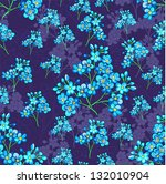 seamless pattern with flowers | Shutterstock .eps vector #132010904