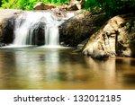 Small Waterfall And Small Lake