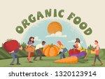 people harvesting organic food...   Shutterstock .eps vector #1320123914