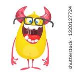 cartoon yellow furry monster....   Shutterstock .eps vector #1320127724