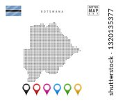dotted map of botswana. simple...   Shutterstock . vector #1320135377