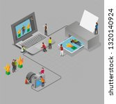 isometric photo taking and... | Shutterstock .eps vector #1320140924