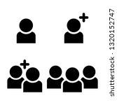 user  add user  group of people ... | Shutterstock .eps vector #1320152747