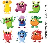 cartoon cute monsters   Shutterstock .eps vector #132015275