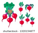 red beet. green leaves on top... | Shutterstock .eps vector #1320154877