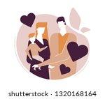 happy family   flat design... | Shutterstock .eps vector #1320168164
