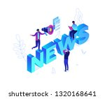 news concept   modern colorful... | Shutterstock .eps vector #1320168641