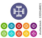 pagan ancient symbol icons... | Shutterstock .eps vector #1320168821