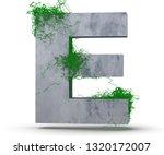 Concrete Capital Letter   E...