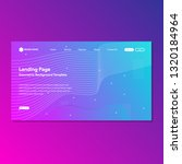 landing page templates for... | Shutterstock .eps vector #1320184964