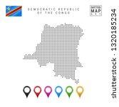 dots pattern map of democratic... | Shutterstock . vector #1320185234