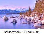 Lake Tahoe In Winter.